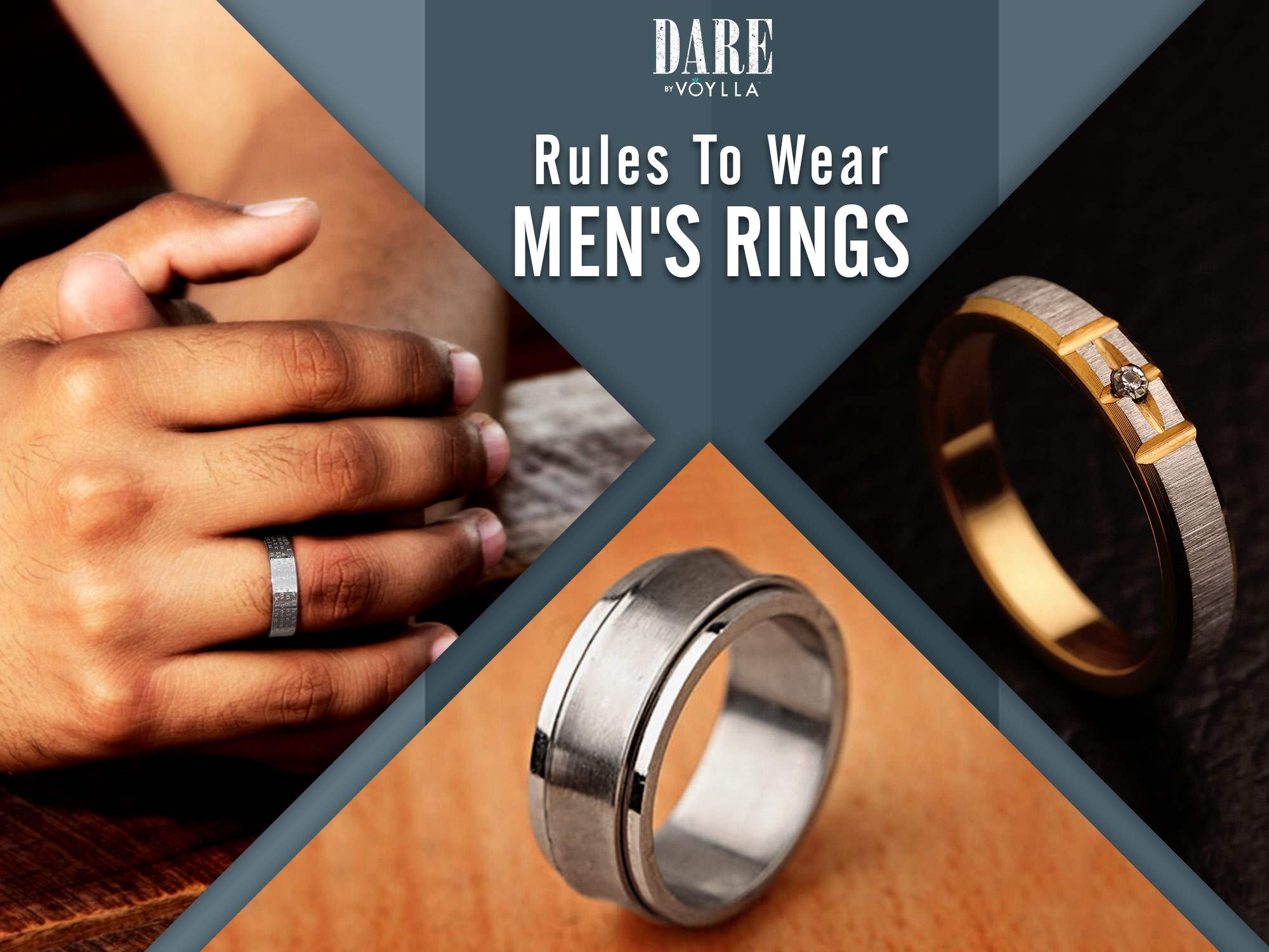 Fashion mens how to wear rings video