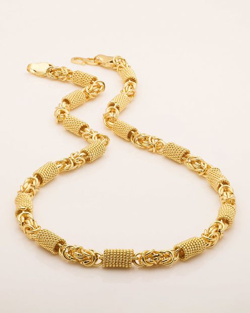 Designer Gold Plated Link Chain For Men