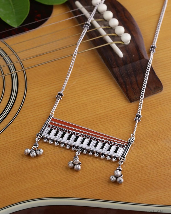 Taal Mridang Harmonium Statement Necklace