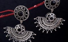 black a moor tribal inspired earrings