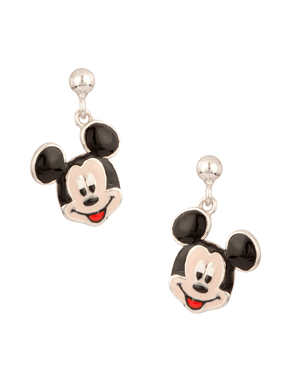 Disney's Cute Mickey Silver Plated Earrings