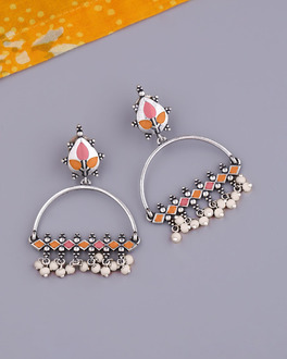 Bagh E Fiza Metal Embellishments Earrings