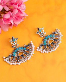 neerja enameled drop earrings