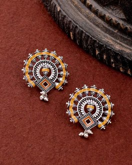 Sanwari Rangoli Design Earrings