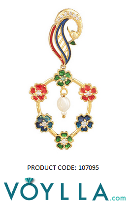 Pair Of Dangler Earrings With Floral Motifs