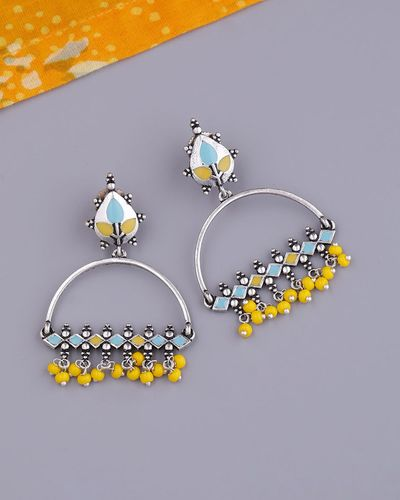 Bagh E Fiza Yellow Beads Earrings