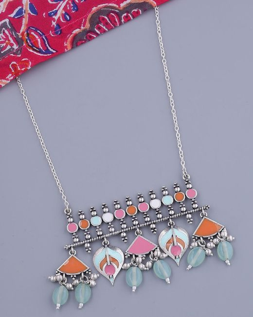 Voylla Bagh E Fiza Blooming Flower Motifs Necklace