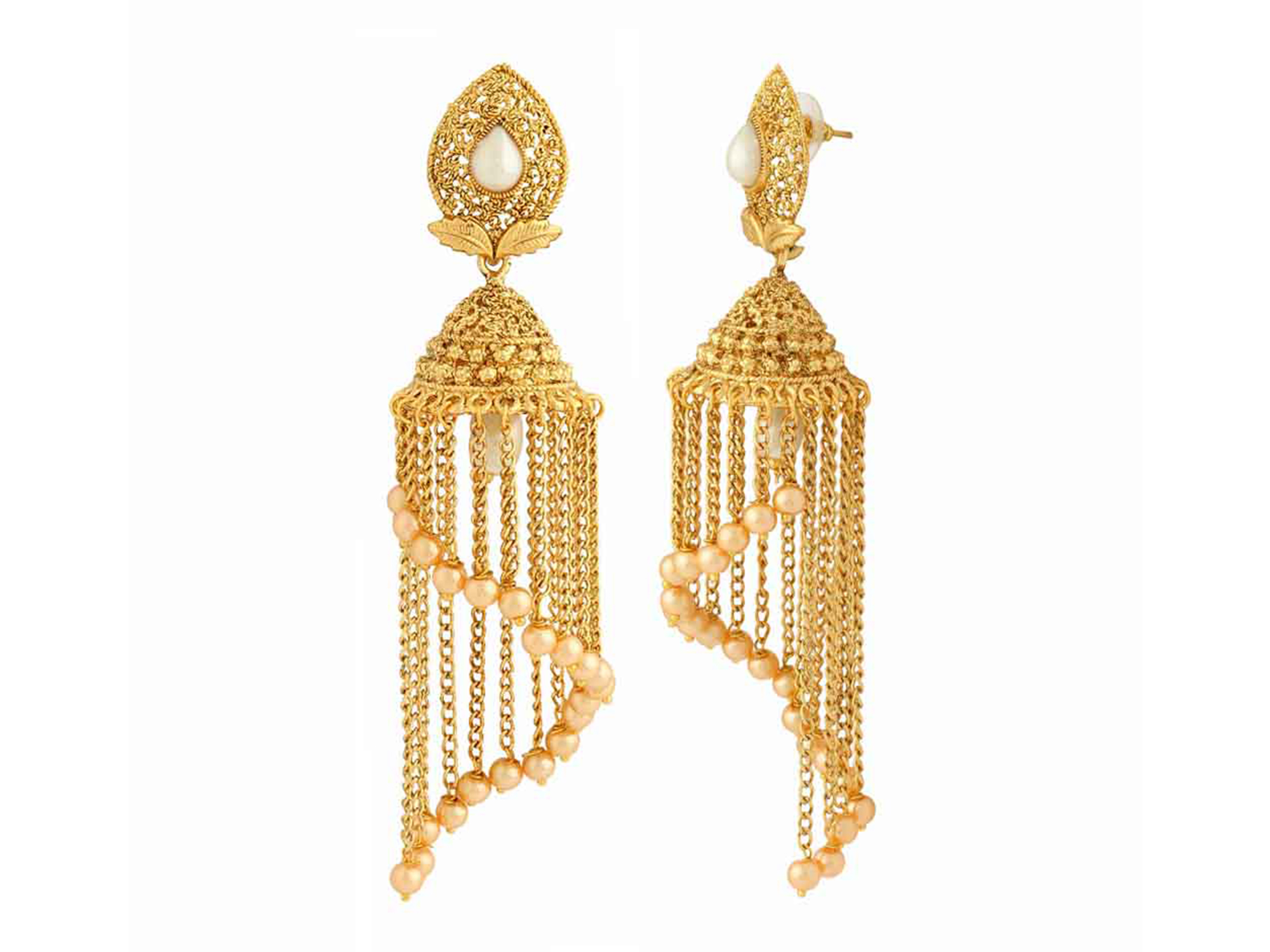 Antique Gold Plated Ethnic Zinc Alloy Earrings