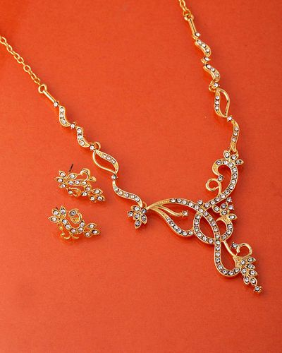 CZ Curves and Curls Necklace Set