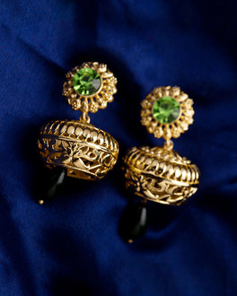 Charming Kathakali Pacha Earrings for Women