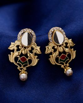Flower Shaped Kathakali Mudra Earrings