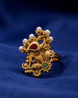 Ornate Kathakali Mudra Ring