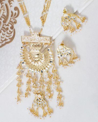 Sheesh Mahal Necklace Set Inspired by Taj