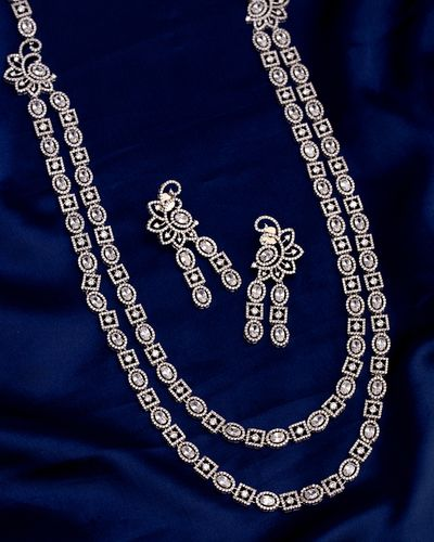 Two Strands Heavily Embellished Necklace Set