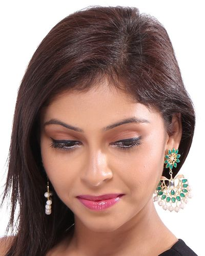 Beautifully Crafted Sterling Silver Danglers With Gold Plating