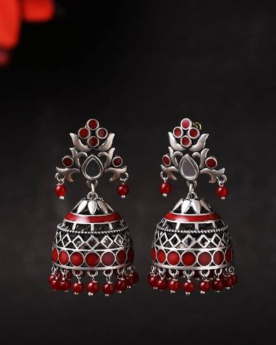 Rangabati Cutwork and Beads Earrings