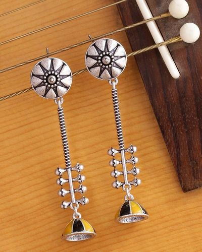 Taal Mridang Sarangi Drop Earrings