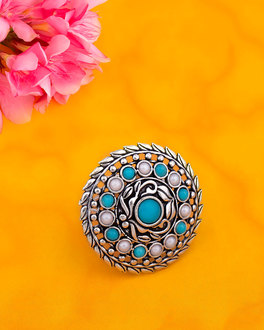 Neerja Cutwork Statement Ring