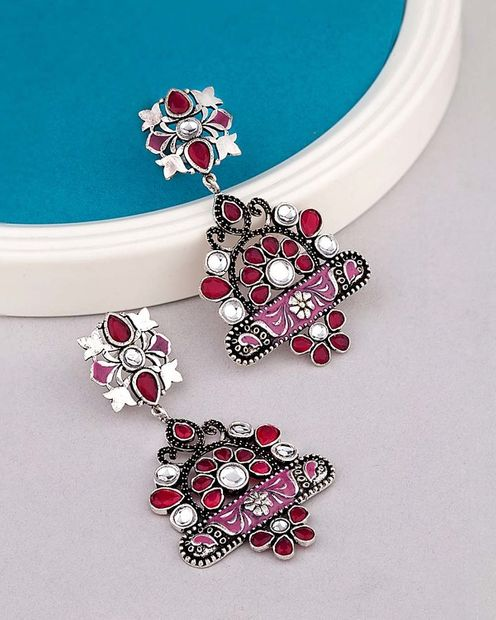 Preet Heavily Embellished Drop Earrings