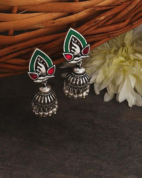 Voylla Adorned Spin Tribal Motifs Earrings