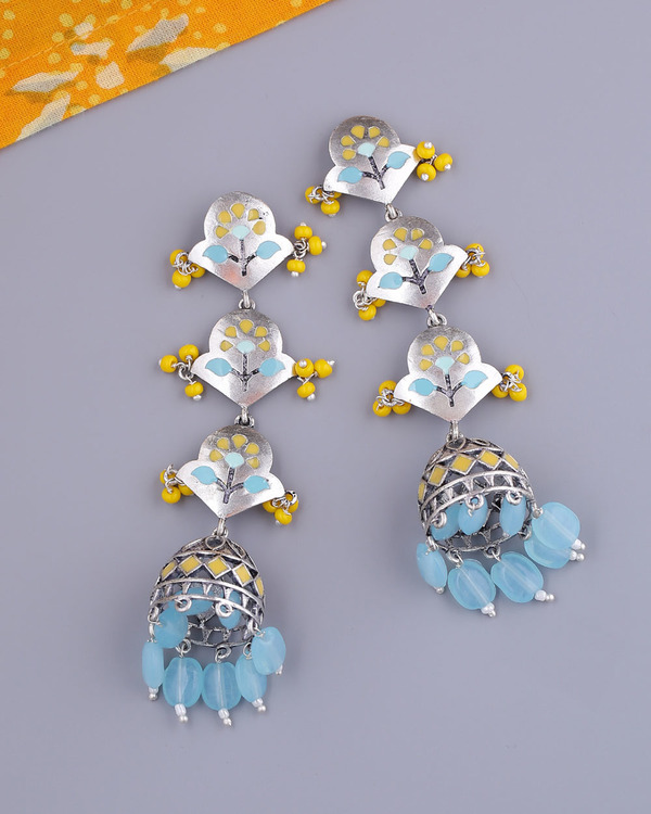 Bagh E Fiza Spring Layered Jhumka Earrings