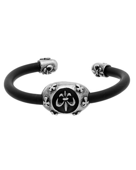 Voylla Stylish Silver Bracelet For Men