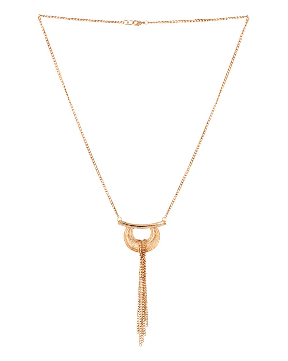 Pendant Necklace Studded With Tassels