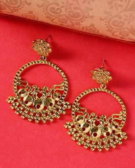 Floral Gold-Plated Great Maratha Danglers