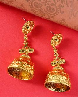 Gold-Plated Great Maratha Jhumki Earrings