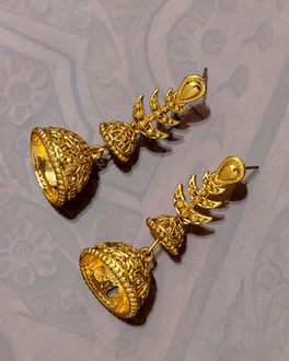 Great Maratha Dual Jhumka Earrings