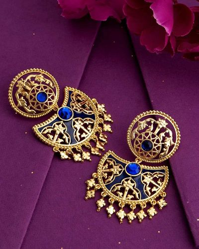 Swarnam Filigree Meenakari Earrings dandiya jewellery