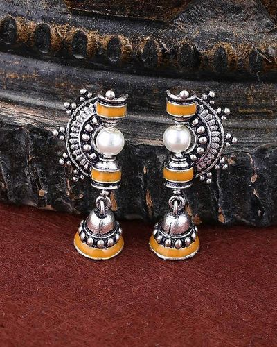 Sanwari Faux Pearls Embellished Drop Earrings