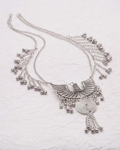 Statement Necklace with Eagle Motif