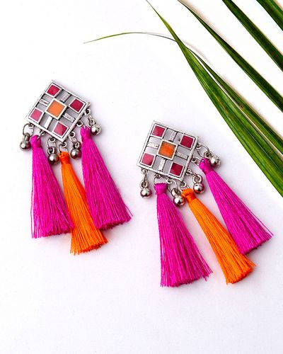 Nakhrali Lightly Embellished Tassels Earrings