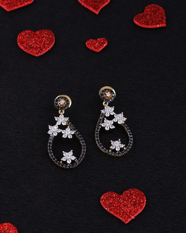 Midnight in Paris Stars Drop Earrings