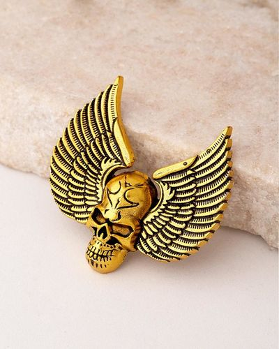 Evil Collection Winged Skull Brooch