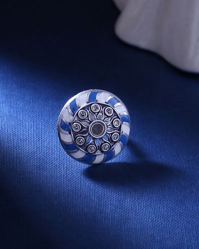 Indigo Affair Enameled Statement Ring