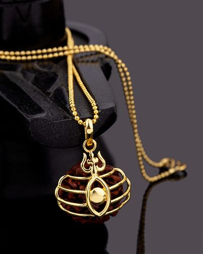 Mahadev Extension Third Eye Motif Pendant