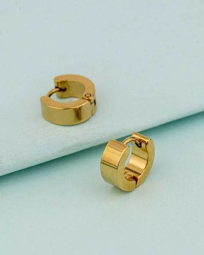 Royal Men's Gold Plated Earrings