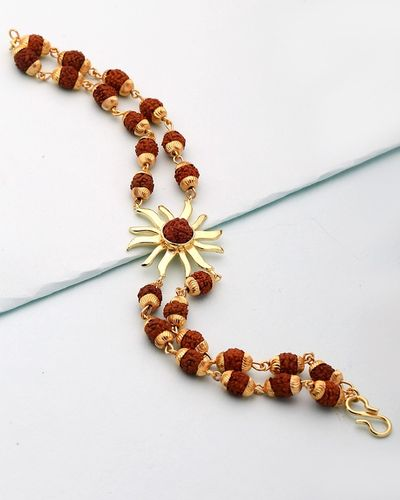 Rudraksha Bracelet Studded With Sun