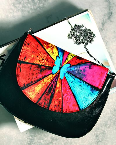 Digital Butterfly Printed Cross-Body