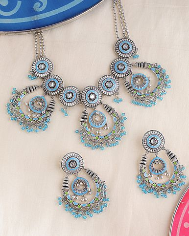Gwalior Chandbali Drops Necklace Set