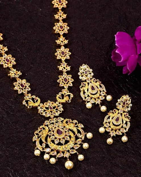 South India Antique Inspired Necklace Set