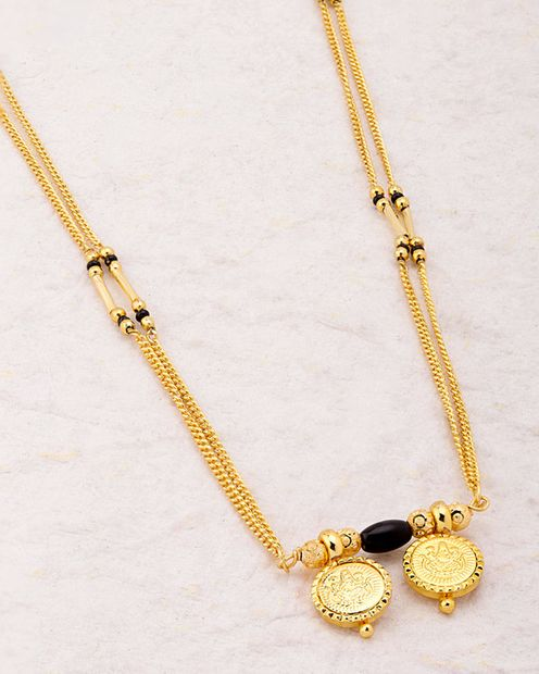 Two Wati Goddess Laxmi Mangalsutra Necklace from Sanskriti