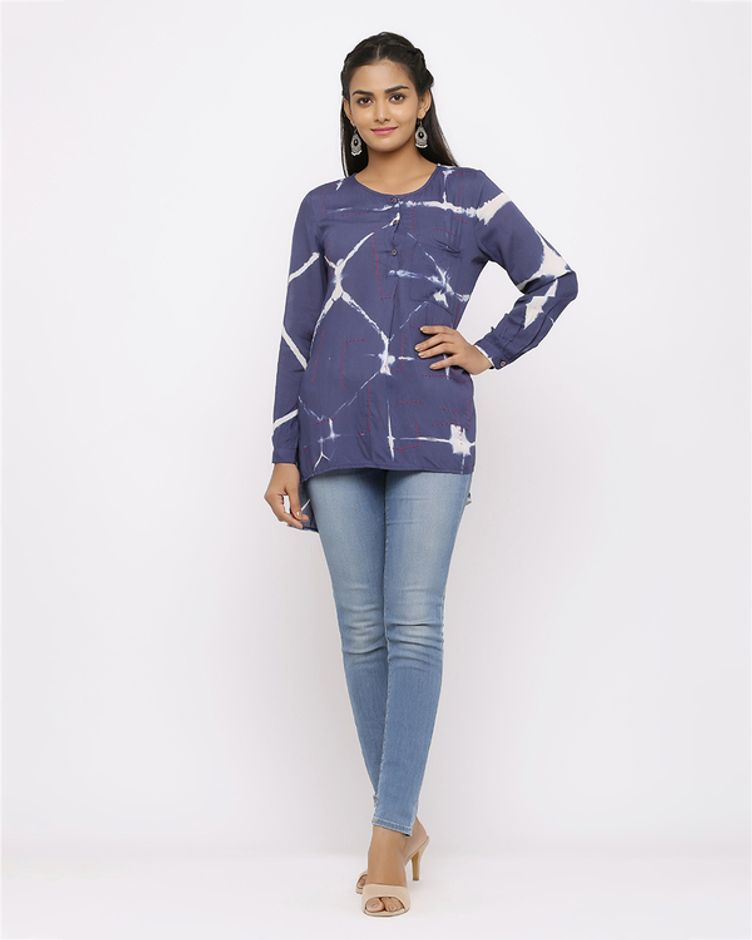 Round Neck Straight Fit Kurti