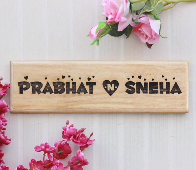 Personalized couple Name Plate