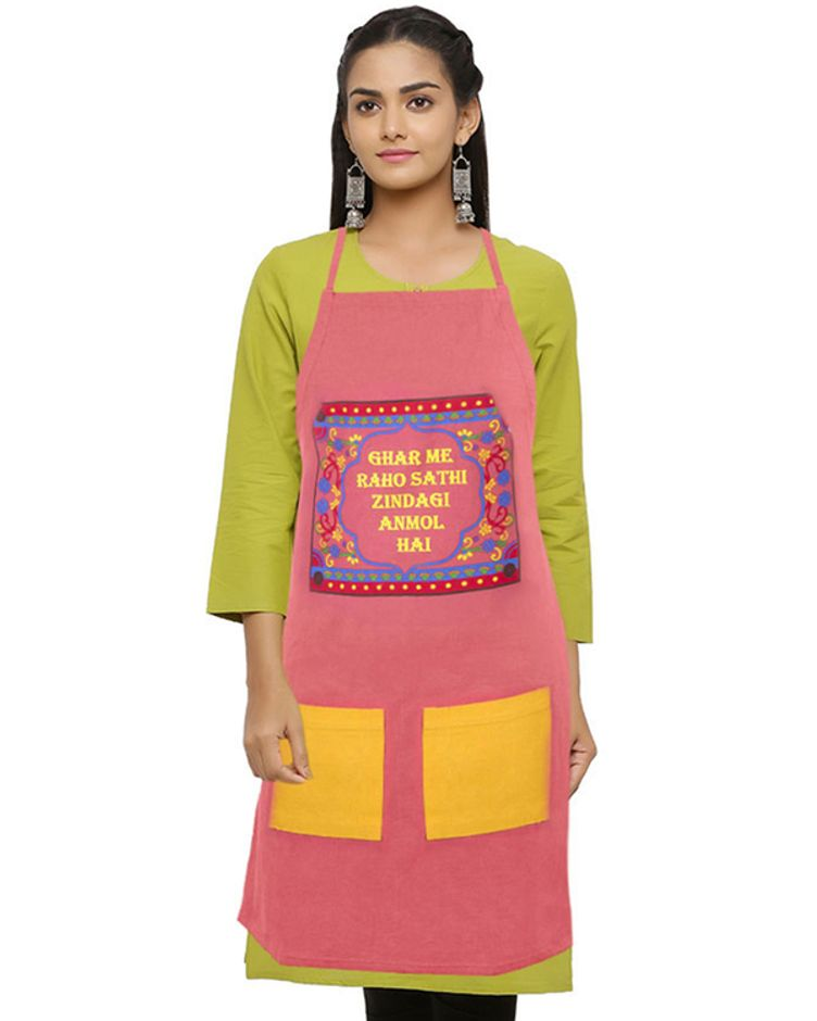 Cotton Duck Fabric Printed Apron