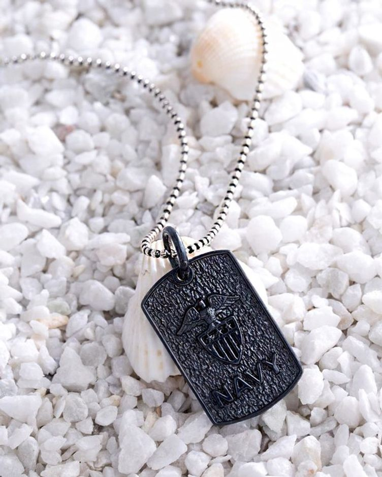 Dual Plated Navy Squad Pendant