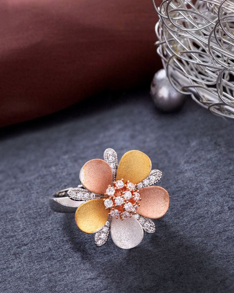 Troika Gems Studded Ring