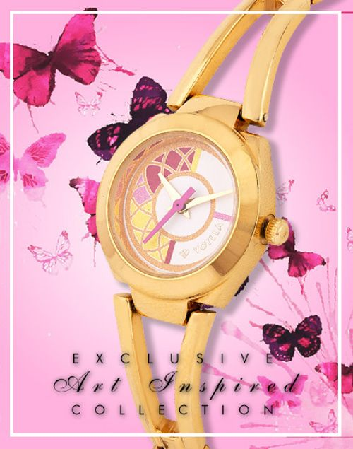 Bagh-e-Fiza Floral Motif Dial Watch